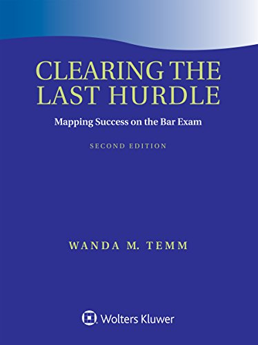 Book cover for clearing the last hurdle